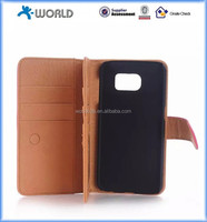 2015 New Design PU Leather Multi-Function Flip Wallet Case for Samsung S6