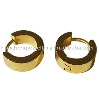 Gold color ear rings body piering jewelry