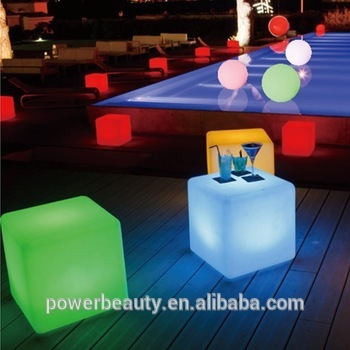 Plastic solar garden led light/LED cube chairvfor outdoor/indoor