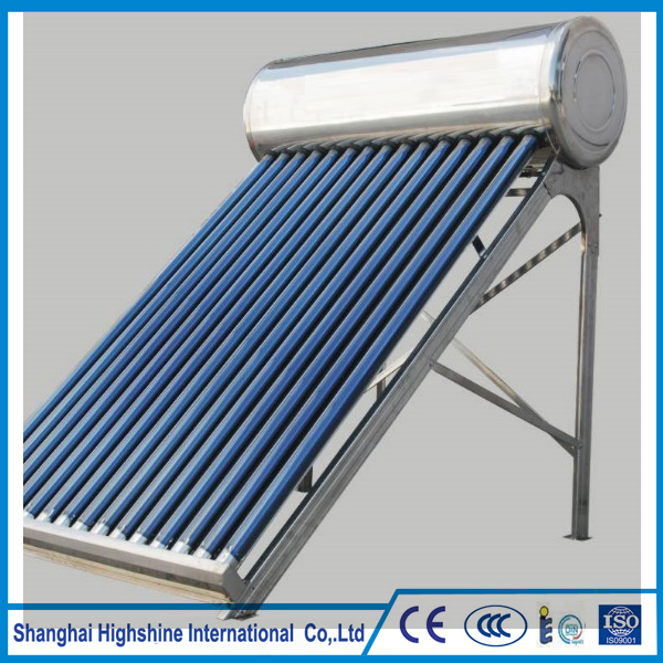 CE Certified hot sell stainless steel solar water heater Unpressurized All Stainless Steel Compact Solar Water Heating System