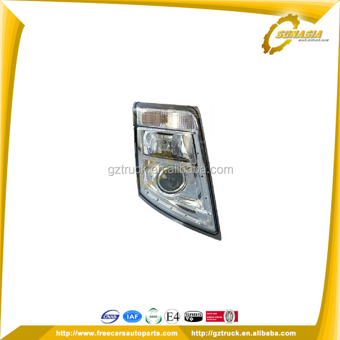 21035645/21323114 RH 21035644/21323113 LH HEAD LAMP (XENON) Guangzhou auto truck volvo body parts used for VOLVO FH/FM Vers.3