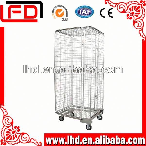 Beauty 4-Side Security wire mesh logistic car for warehouse or supermarket