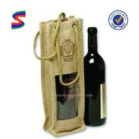 Jute Bag For Wine Insulated Wine Bottle Carrying Bag
