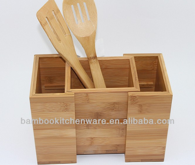 Bamboo/Wooden Kitchen Utensil Holder