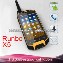IP67 Runbo X5 walkie talkie waterproof dustproof rugged phone Android outdoor cell phone