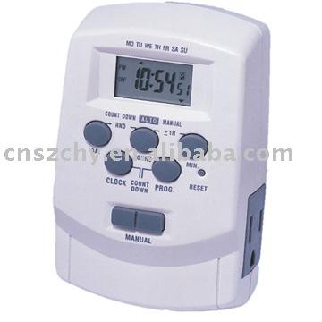 Temporizador digital 7 d as 24 horas 11ov temporizadores for Temporizador digital enchufe