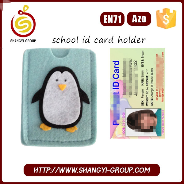 Christmas polar bear design card holder for school student id card