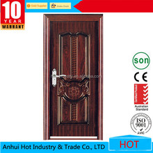 Unique Home Designes Main Entrance Exterior Door Cheap Decorative Iron Security Door