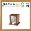 Funeral supplies wooden ashes urn with photo frame for dog and cat