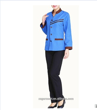 2017 new design women cheap hotel company cleaning staff uniform
