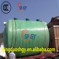 Household Biogas FRP Septic tanks for domestic wastewater treatment/Fiber reinforeced Plastic tank for sewage
