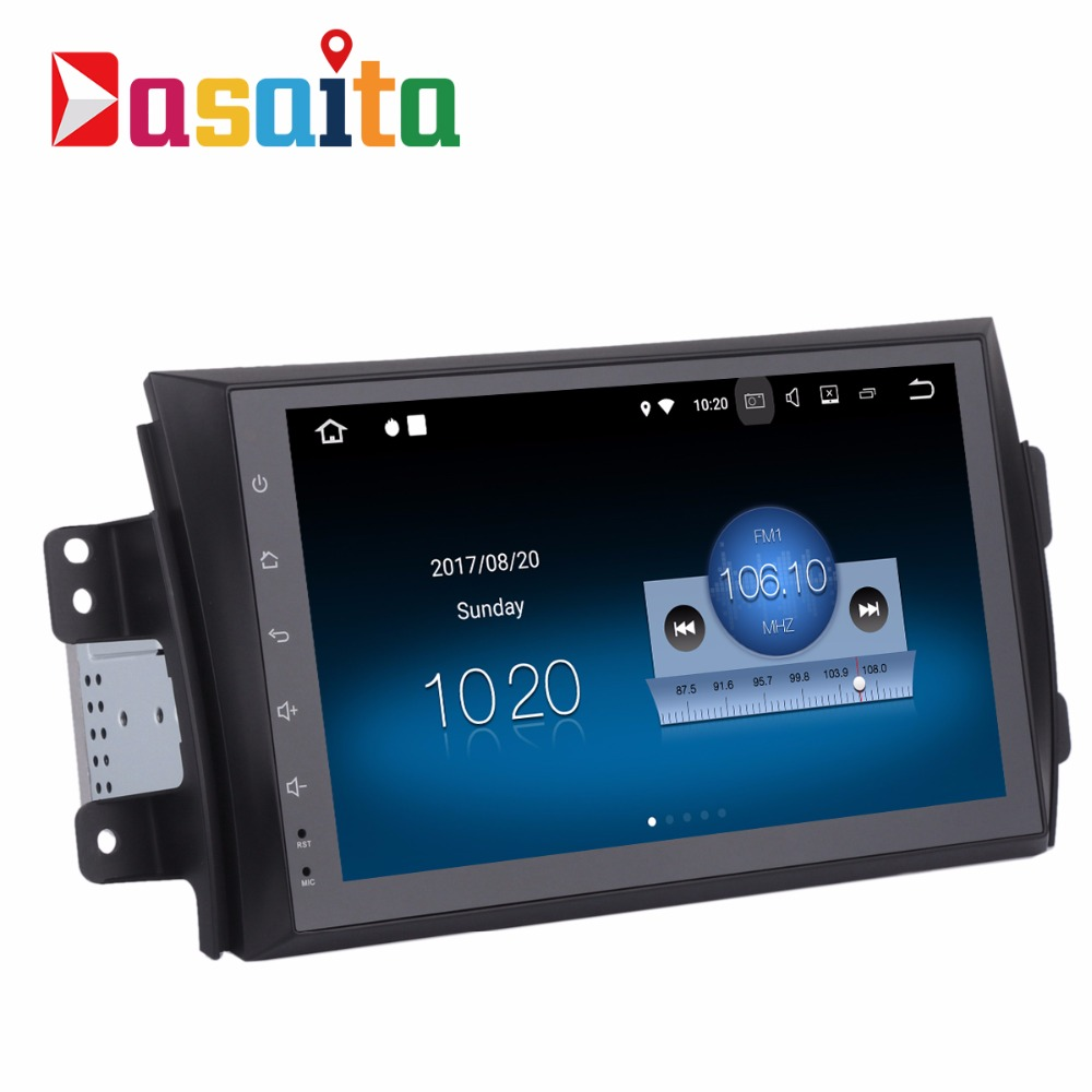 Dasaita 9 inch touch screen Android 7.1 audio radio car stereo gps navigation player no DVD for Suzuki swift 2005-2010 with 3G