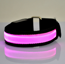 LED Armband/Wristband/Bracelet for Running At Night-3 Settings: Fast Pulse, Slow Pulse, Steady-Safe & Bright