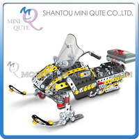 MINI QUTE Snowmobiling Iron commander metal connect puzzle Assembly DIY building blocks kid educational toys NO.816i-10