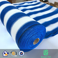 70% 1 m width Blue and White Sun Shade net Shade Cloth Sunblock Net with Special Eyelocks