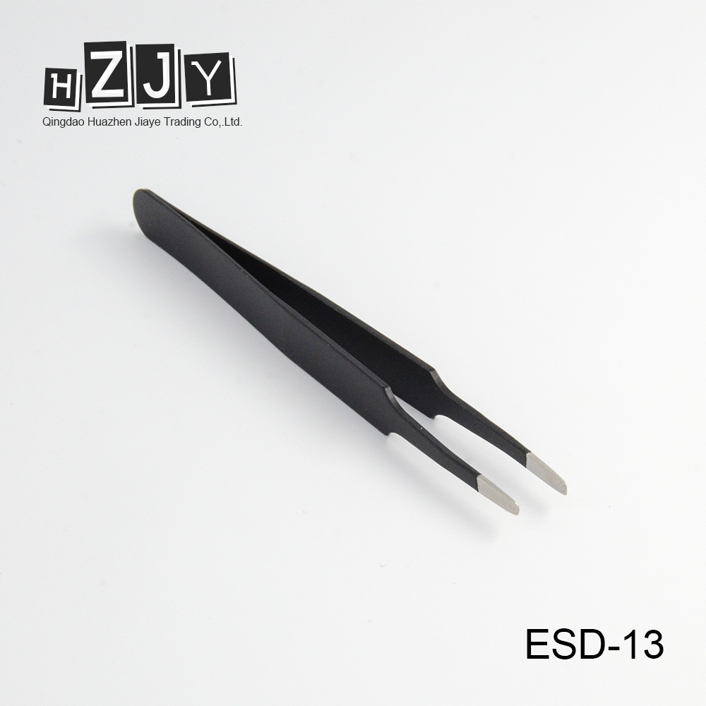HZJY ESD-13 Professional Eyelash Extensions Picking Tweezers Set