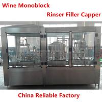 automatic packing machine bottle washing filling capping machine/wine monoblock filling machine