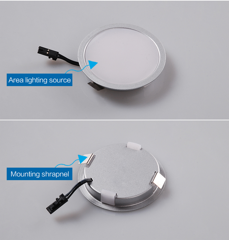 A1125 Easy Shrapnel Mounting Round Recessed And Light Colour Cool White Cabinet Ceiling Led Puck Light Led Spot Light