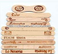 popsicle sticks birch wooden ice cream straight edge A grade 93mm and 114mm printed logo