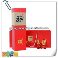 Custom Colorful Tea Package Box with Paper Bag