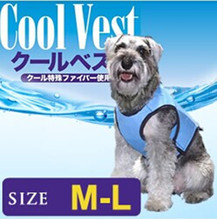 Wholesale good quality 100% polyester breathable mesh reflective pet gel dog cooling vest