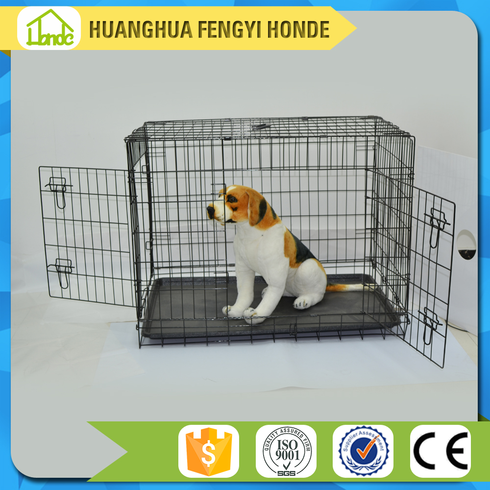 New Design Foldable Two Door Animal Show Cages