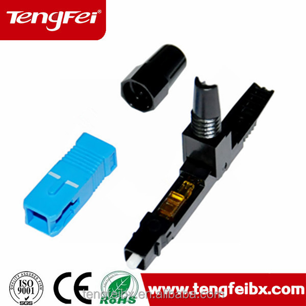 SC fiber optic fast connector/quick assembly connector/field assembly connector