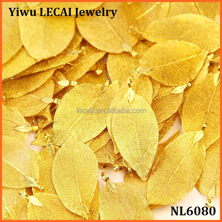 Wholesame REAL Nature Walnut Tree Leaf <strong>Pendant</strong> dipped in gold Plated Charm <strong>Pendant</strong>