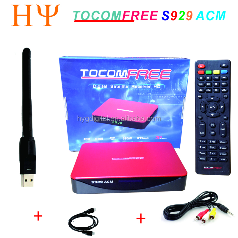 TOCOMFREE S929 ACM Full HD Digital Satellite Receiver DVB-S2 Twin Tuner IKS + SKS+IPTV ACM H.265 For South America IPTV