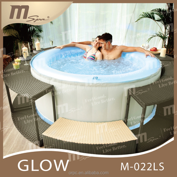 Portable LED spa/ bubble massage / inflatable whirlpool Oasis M-022LS Glow outdoor 4 person