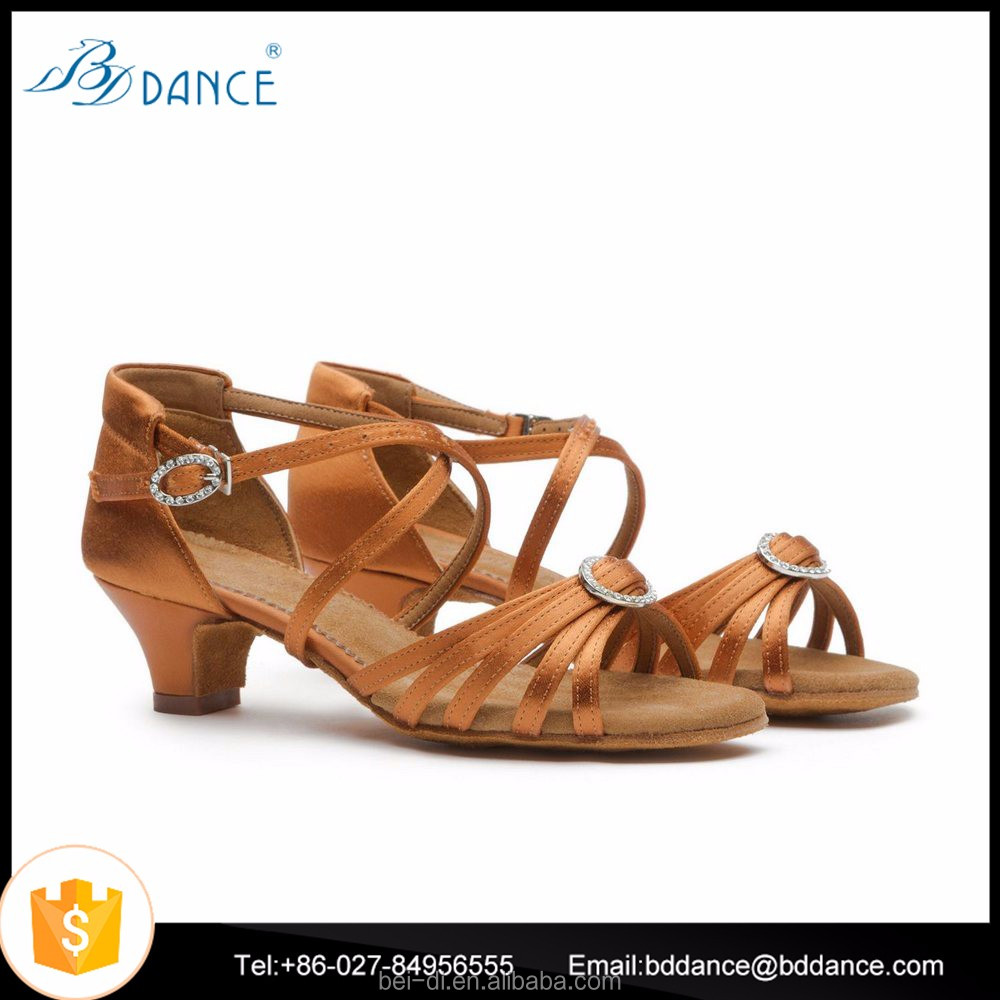 Professional Handmade Kids Latin dance shoes 607