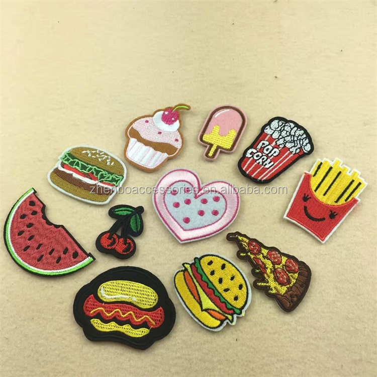 Custom Sewing-on Garment Bag Foods Shape Embroidery Patch