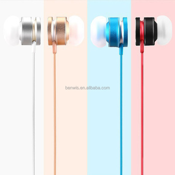 Phone accessories Anti Noise HD wholesale metal wired earphone in ear earbuds with microphone and remote