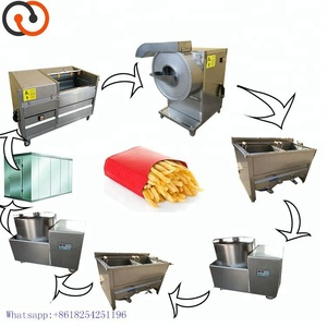Stainless Steel Automatic French Fries Machine/Fried Potato Chips Production/Frozen French Fries Production Line