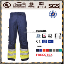 Industry workwear pants trousers Oil and gas field static protective flame proof wholesale fire retardant clothing