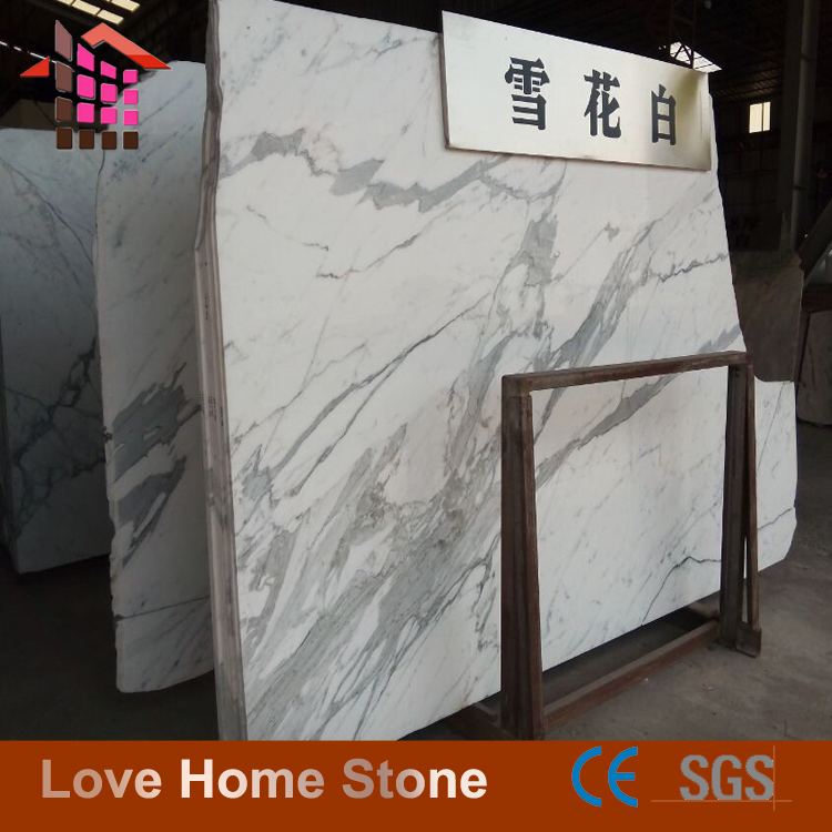 China Natural Snow White Marble Block