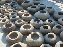 Outdoor river stone basin