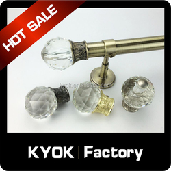 KYOK Home decoration retractable curtain rod set,metal curtain rod bracket