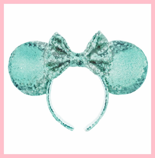 mich mouse with sequin bow headband hair accessories