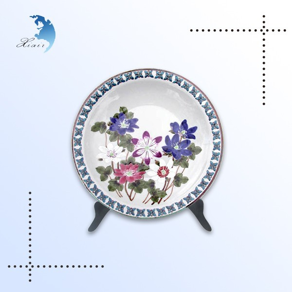Promotional luxury home decoration silk screen acrylic dinner dish