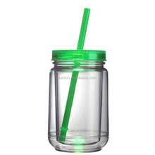 with lid double wall plastic jar for water 100g