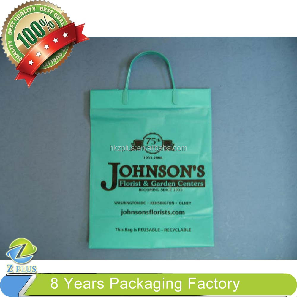 US Strong Thickness Colorful soft loop handle plastic bag