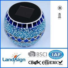 Cixi landsign color changing solar mosaic glass light with high quality
