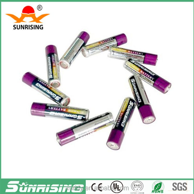 1.5V Zn/MnO2 lr03 AAA alkaline battery for camera pen