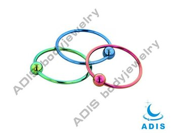 Anodised Ball Closure Ring captive ring,nose piercing