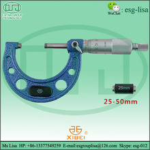 Manual outside thickness types of micrometer screw gauge price