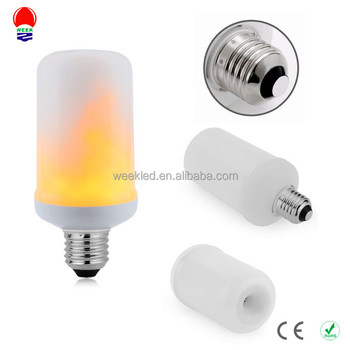 2017 hot sale fake fire led flame effect light bulb led flame light bulb
