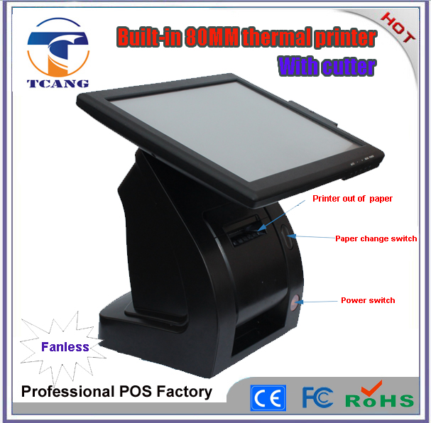 electronics fanless design computer cash register billing machine for retail small business