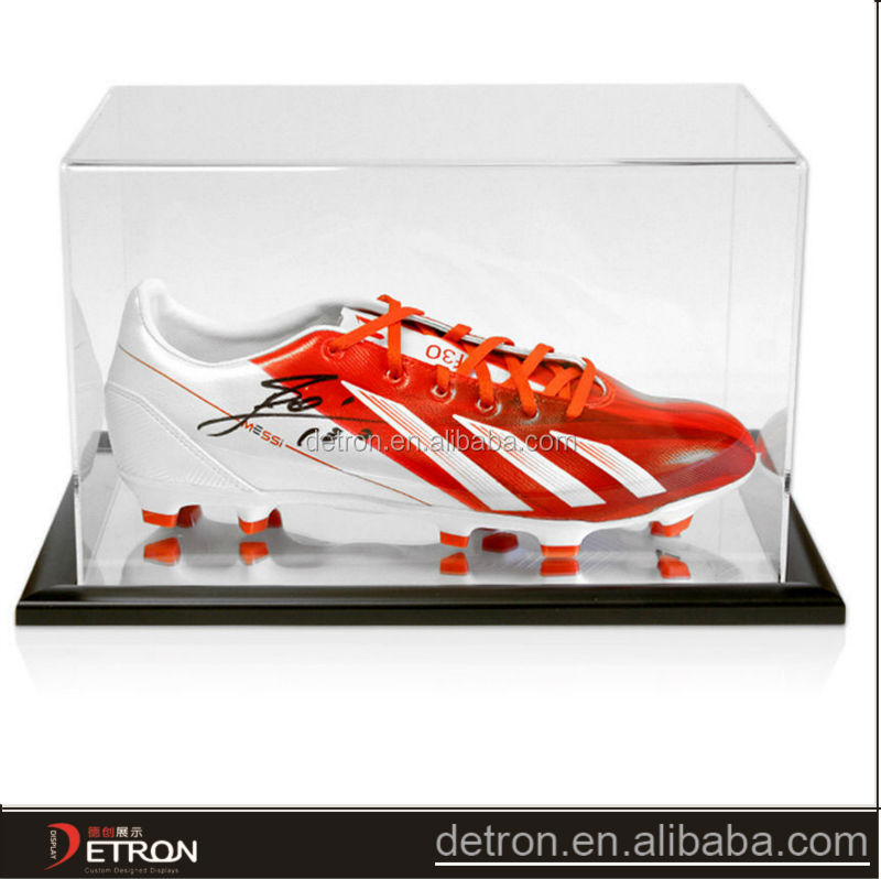 Transparent durable sport shoes display case