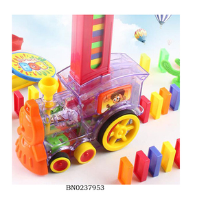 Battery Operated Domino Train Domino Block Toys With Light And Bell